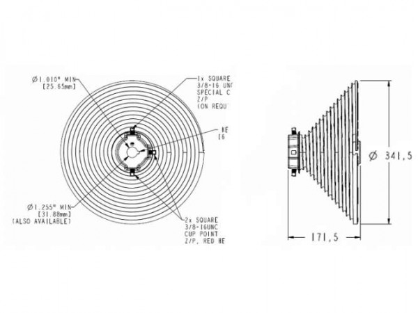 Seiltrommel M-343 / 8500 31,75 mm VL