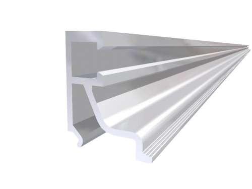 Alu-Glasleiste eloxiert für Doppel-Verglasung,