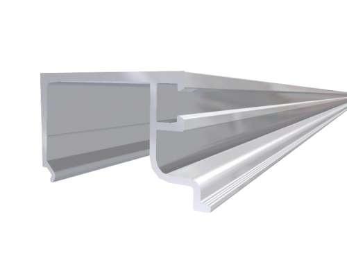 Alu-Glasleiste eloxiert für Einfach-Verglasung,