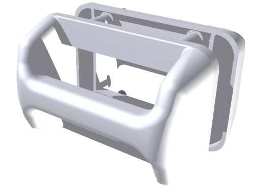 Kunststoff-Schalengriff, weiss RAL 9003