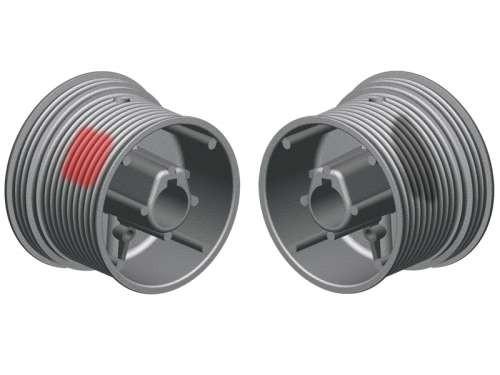 Seiltrommel 2SW NL12-3680 - Aluminium