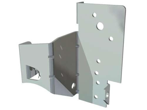 Bodenkonsole für Niedrigsturz aus verz. Stahl