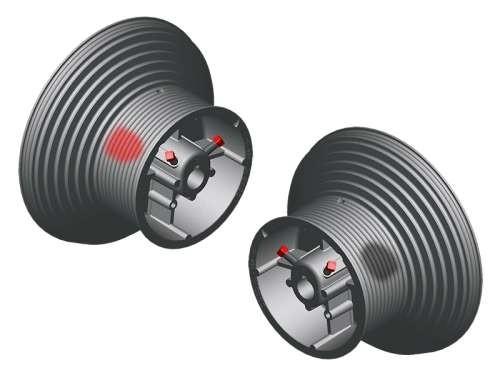 Seiltrommel 2SW HL164-125-6000/HL4100 - Aluminium