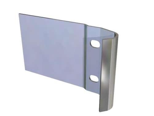 Befestigungsmuffe aus verzinktem Stahl, 129 x 75mm