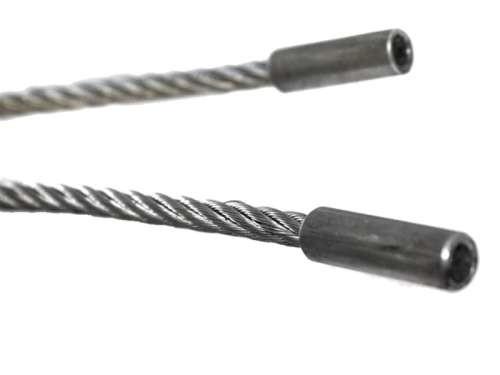 Komplett montierter Stahlseil-Satz, 4mm, mit PP.-Kern