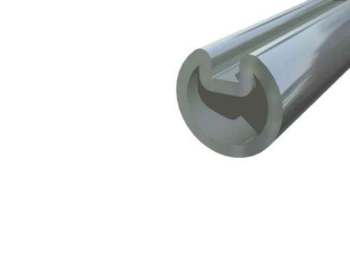 """Hohlwelle 1"""" mit durchlaufender Nute, verzinkt. Stahl"""