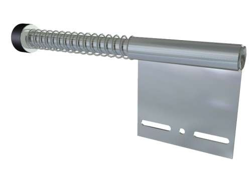 Federpuffer flach, verzinkter Stahl