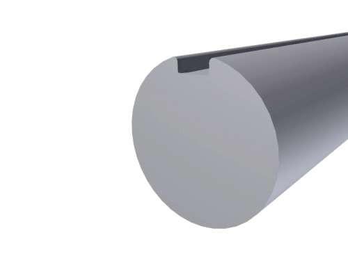 """Massivwelle31,75 mm (1,25""""), mit durchlauf. Nut"""