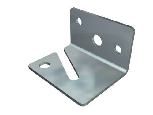 Kettenhalter aus verzinktem Stahl