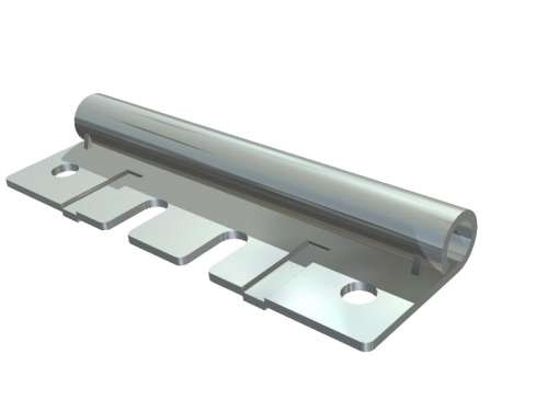 Rollenhalter mit doppelter Breite, verz. Stahl