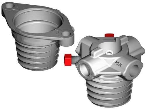 Satz Federköpfe M-45 Aluminium