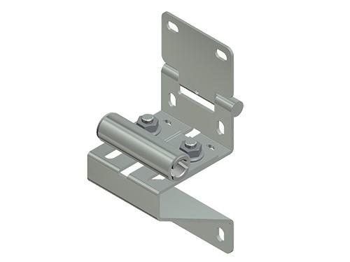 Seitenscharnier mit geräuscharmen Rollenhalter 11mm