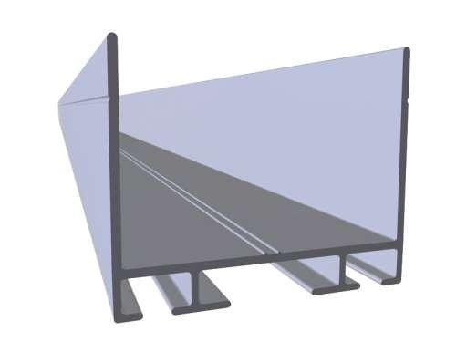 Alu-Top- und Bodenprofil L=4040 mm(nicht eloxiert)