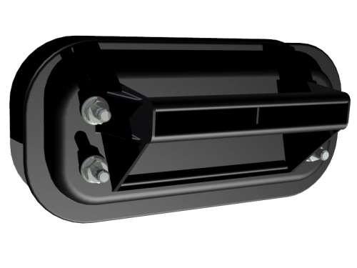 Kunststoff-Schalengriff schwarz, zweiteilig