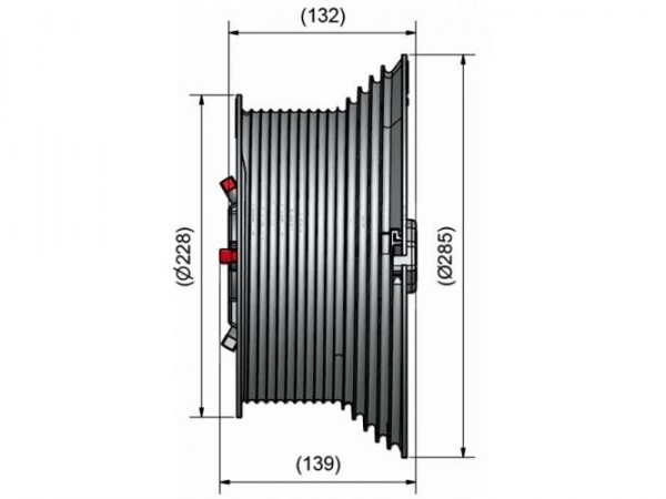 Seiltrommel M-203 / 3050mm HL 31,75mm