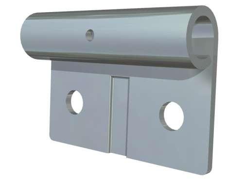 Verzinkter Rollenhalter aus verz. Stahl