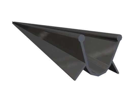 Boden-Abschlussprofil, Schwarz EPDM