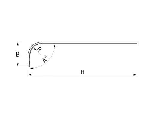 Laufschiene mit Bogen, Radius 254 mm,