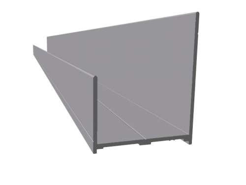 Aluminium Boden-Profil, eloxiert, L5000mm