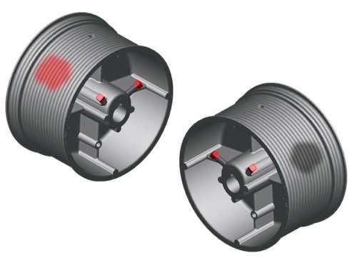 Seiltrommel 2SW NL32-125-10175 - Aluminium