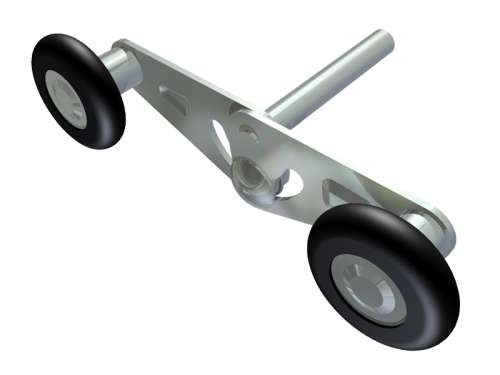 Einstellbare Mini-Tandemrolle 46/11/78mm