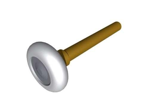 "2""/46 mm Laufrolle Kunststoff mit 12 mm, L 115mm"