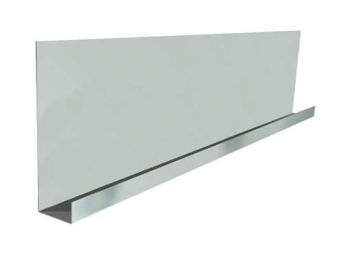 Endkappe mit doppelter Breite, L 483 mm, verzinkter Stahl