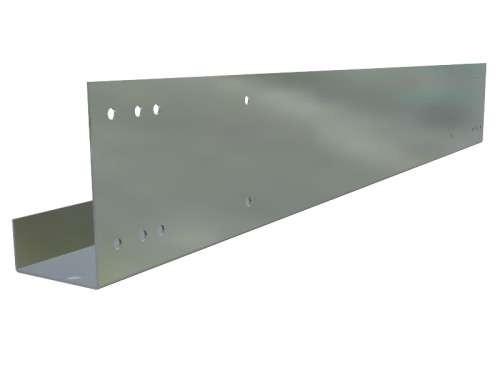 Endkappe mit Lochmuster, verzinkter Stahl, L 483 mm