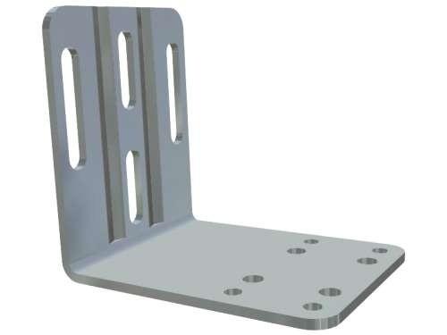 Montagewinkel für Federpuffer, verz. Stahl