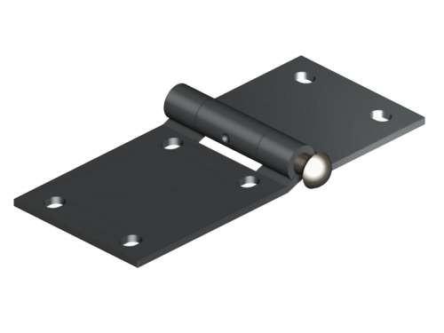 Seitenscharnier aus 3 mm starkem Edelstahl