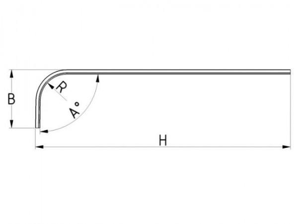 Laufschiene mit Bogen, Radius 305 mm