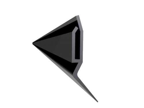 Lippendichtung, schwarz, L 6000 mm