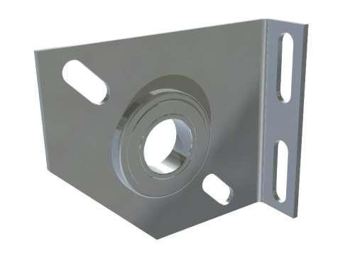 Kompakte Lagerkonsole aus 3 mm verz. Stahlblech