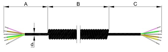 SC 6420 - Spiralkabel 6-adrig