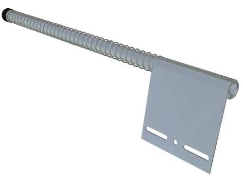 Federpuffer flach, verzinkter Stahl (Paar)