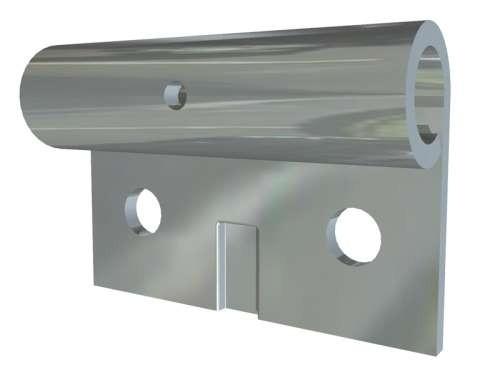 Verzinkter Rollenhalter für 12 mm Laufrollen
