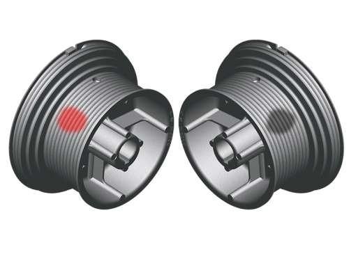 Seiltrommel 2SW HL54-4800/HL1370 - Aluminium