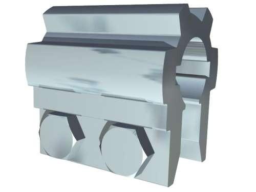 Alu-Kupplung 25,4 mm, L= 60 mm