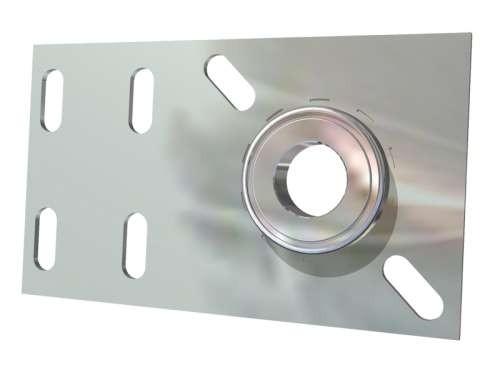 Flache Lagerkonsole aus 3 mm verz. Stahlblech