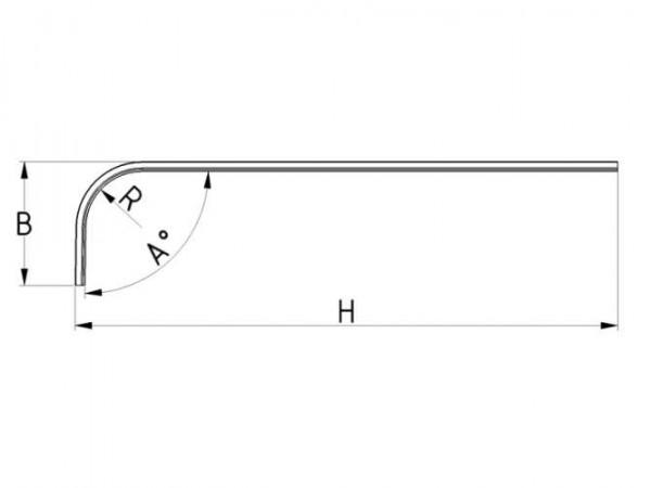 Laufschienenbogen aus Edelstahl AISI 304