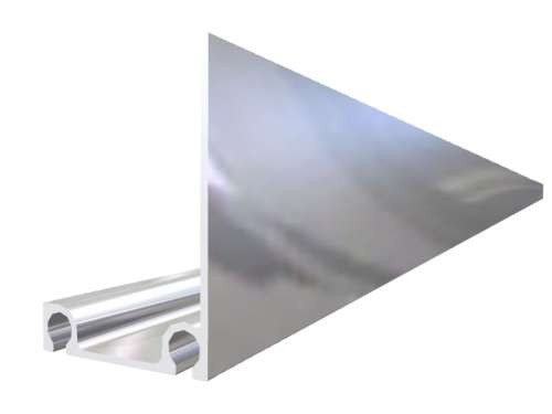 Aluminium Umfassungsprofil, eloxiert, L=5600 mm