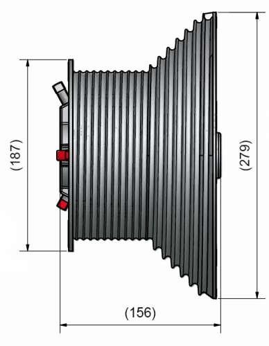 Seiltrommel M-162 / 4165 31,75mm HL