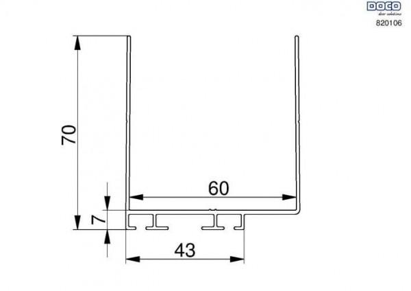 Alu-Umfassungsprofil 60mm, L 5050mm