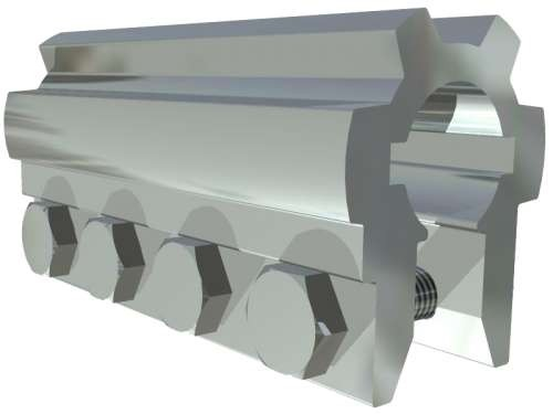 Alu-Kupplung 25,4 mm , L= 120 mm