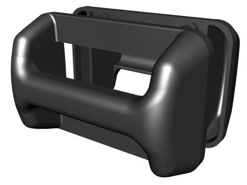 Kunststoff-Schalengriff, schwarz, zweiteilig