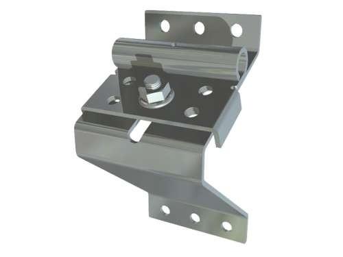 Oberer Laufrollenhalter ausverzinkt. Stahl