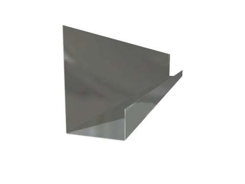 Standard-Endkappe ohne Löcher, 605 mm, verzinkter Stahl