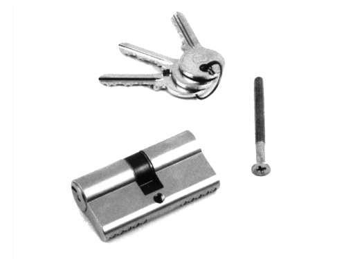 Euro-Profilzylinder, verz. Stahl