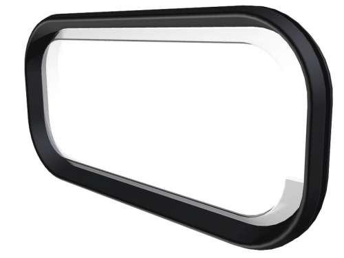 Fenster mit Gummirahmen, oval schwarz, thermocryl