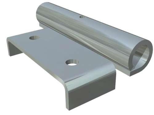 Verzinkter Rollenhalter für11 mm Laufrollen.
